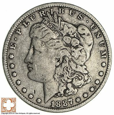 Philadelphia Minted - Over 100 Years Old - 1887 Morgan Silver Dollar *100