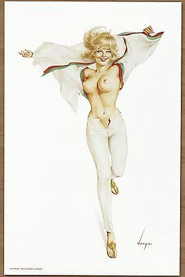 1960's Alberto Vargas Authentic Pin-Up Poster Art Print 11x17