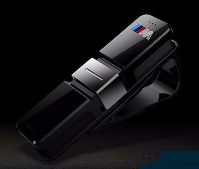 Black Car Glasses Holder Case Clip Sun Visor Clamp For BMW X1 X3 X4 X5 X6