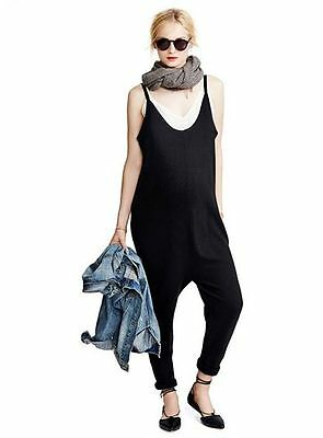 Hatch Collection maternity black wool/cashmere jumpsuit