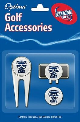 Afl Golf Accessory Pack - Geelong - Official Afl Product - Gift Idea!