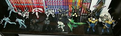 Guyver Trading Mini Figure Max Factory figma rare g1 only w/dvd unit case lot