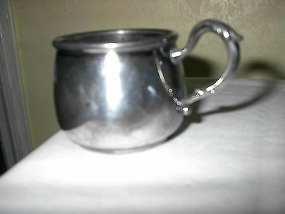 Rogers 1881 New York Quadruple Plate Silver Baby Handled Cup 1590