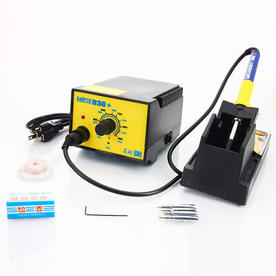 936+ 110V Electric Rework Lead Soldering Station Kit w/ 4 Tips Stand Solder Wire