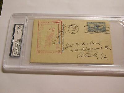 Orville Wright Signed Envelope Psa/dna Authentic Auto Kitty Hawk Anniversary