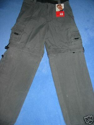 Boys size 10 School or Cargo  Pant  Zips off to Convert 2 Shorts New RP 40 Last