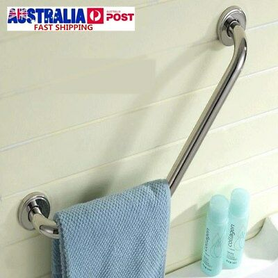 Stainless Steel Bathroom Shower Towels Rail Wall Grab Bar Safety Grip Handle AU