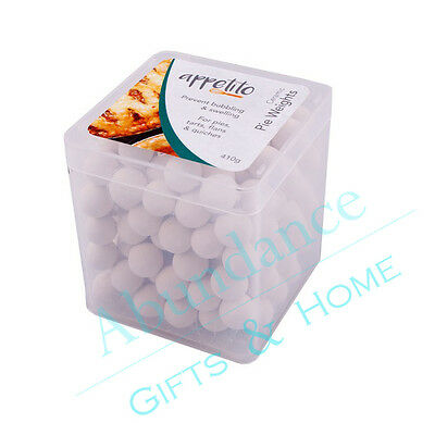 Ceramic Pie Weights Pastry Blind Baking Beads in Reusable Square Tub 410g *NEW*