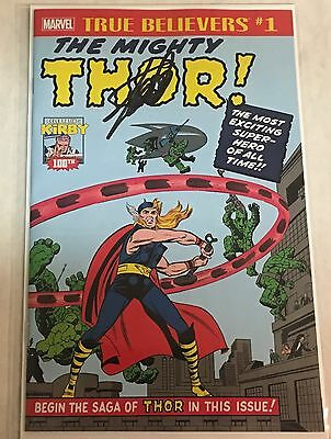 True Believers Mighty Thor #1 Journey Into Mystery 83 Reprint Signed by Stan Lee