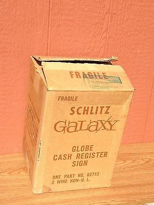 Schlitz Beer Revolving Globe Light Display Sign Cash Register New in Box Mint