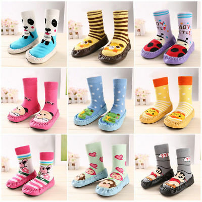 Cute Toddler Baby Kids Anti-slip Crawling Shoes Socks Slipper Boots 0-39 Months