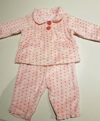 Baby girls Pajamas set. Heart print size 00 new without tags    sleepwear
