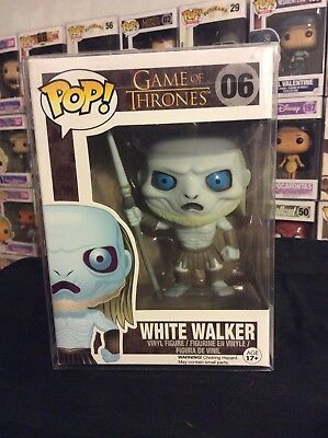 Funko Pop Rare W/protector White Walker Game Of Thrones 06 Vaulted