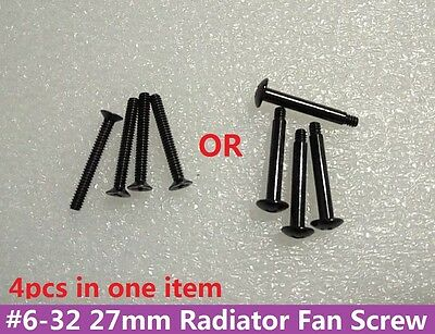 4pcs #6-32 Long Screws with Phillips Pan Head for Radiator Cooling Fan 27-35mm