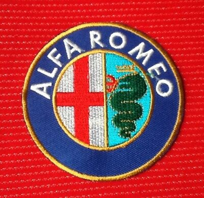 Alfa Romeo Car Spider Motor Sports Racing Badge Iron Sew On Patch