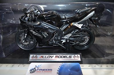 1:12 Racing Yamaha YZF-R1 Alloy Models Diecast BLACK Motorcycle Bike Model