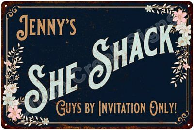 Jenny's SHE SHACK Vintage Look Sign 12x18 Victorian Metal Wall Décor 2181608