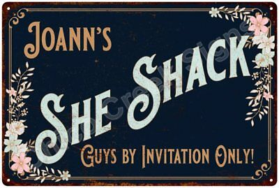 Joann's SHE SHACK Vintage Look Sign 12x18 Victorian Metal Wall Décor 2181490
