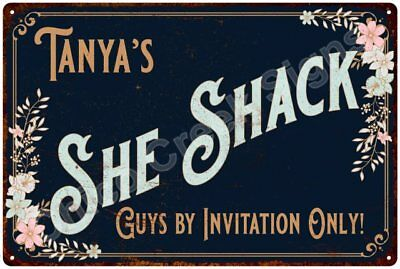 Tanya's SHE SHACK Vintage Look Sign 12x18 Victorian Metal Wall Décor 2181563
