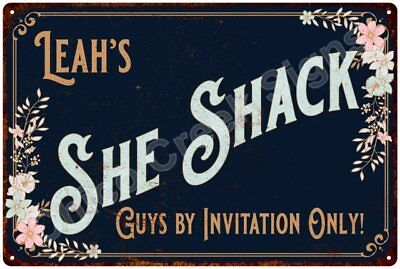 Leah's SHE SHACK Vintage Look Sign 12x18 Victorian Metal Wall Décor 2181596