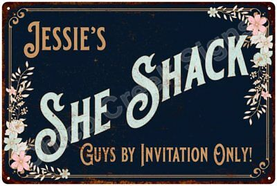 Jessie's SHE SHACK Vintage Look Sign 12x18 Victorian Metal Wall Décor 2181541