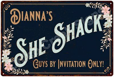 Dianna's SHE SHACK Vintage Look Sign 12x18 Victorian Metal Wall Décor 2181744