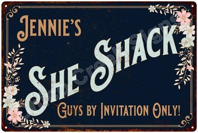 Jennie's SHE SHACK Vintage Look Sign 12x18 Victorian Metal Wall Décor 2181591