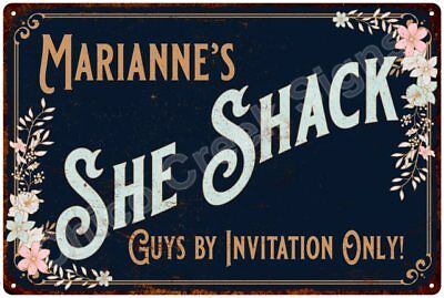 Marianne's SHE SHACK Vintage Look Sign 12x18 Victorian Metal Wall Décor 2181706