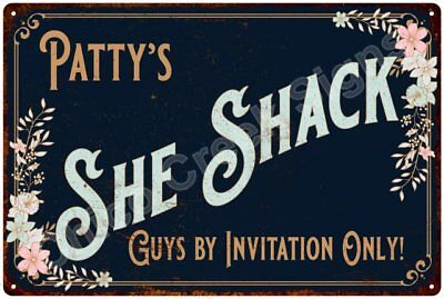 Patty's SHE SHACK Vintage Look Sign 12x18 Victorian Metal Wall Décor 2181699