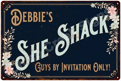 Debbie's SHE SHACK Vintage Look Sign 12x18 Victorian Metal Wall Décor 2181467