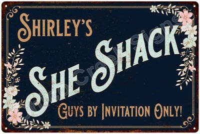 Shirley's SHE SHACK Vintage Look Sign 12x18 Victorian Metal Wall Décor 2181353