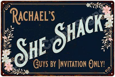 Rachael's SHE SHACK Vintage Look Sign 12x18 Victorian Metal Wall Décor 2181732