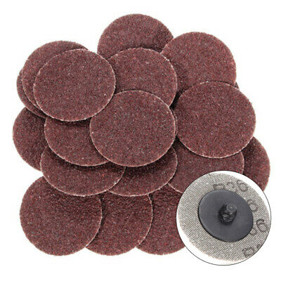 "25PC 2"" Roloc Discs 36 Grit R Type Sanding Abrasive Roll Lock Coarse Polish Set"