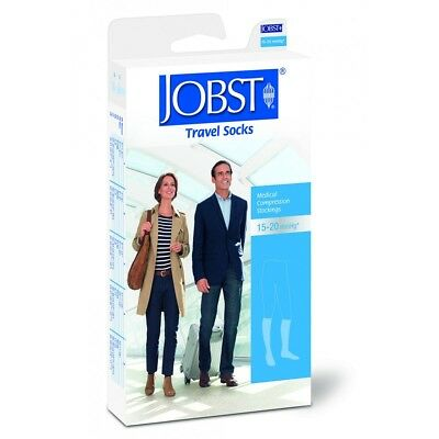 JOBST Travel Socks | SIZE 2 | 15-20mmHg Knee High | Black