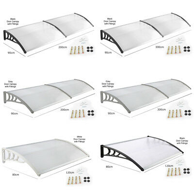 Deluxe Front Back Porch Door Canopy Awning Shelter Outdoor Shade Roof Rain Cover