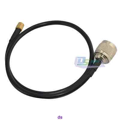 Well 20in Jumper Cable LMR240 N male plug to RP-SMA male Extension Coax Pigtail