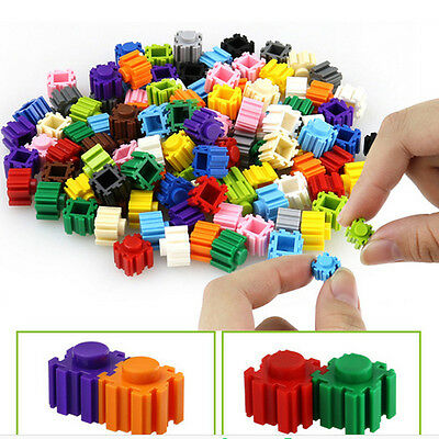 200Pcs/Pack Kid Children Plastic Building Blocks Bricks Puzzle Educational tool