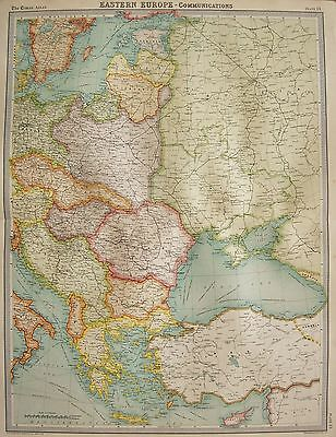 1920  Large  Map : Eastern Europe, Political Map