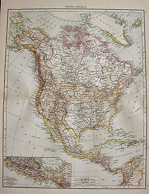 1896  Large Victorian  Map : North America
