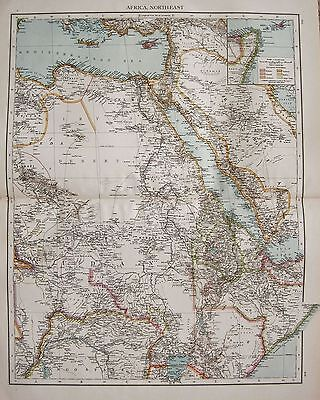 1896  Large Victorian  Map : Africa, North East