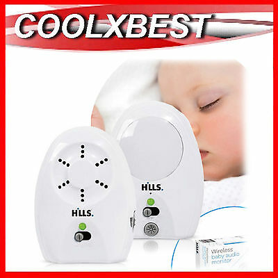 NEW HILLS AUDIO BABY MONITOR WIRELESS with BUILT IN NIGHT LIGHT & NOISE FILTER