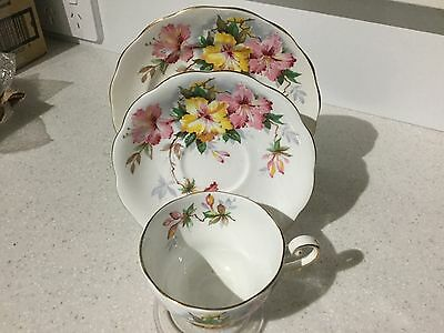 Royal Standard Fine Bone China Trio Azalea Pattern