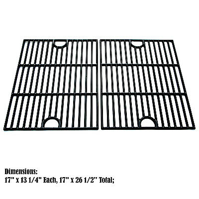 Replacement Porcelain Cast Iron Cooking Grid for Universal Grill Grid, 2 pack