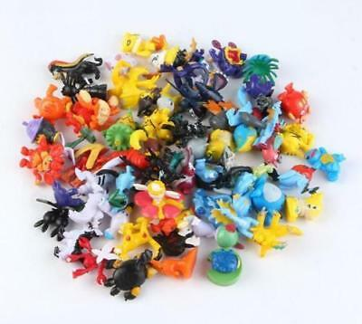 Random 24Pcs Pokemon Monster Mini Figure 2-3cm Action FiguresToys Christmas Gift