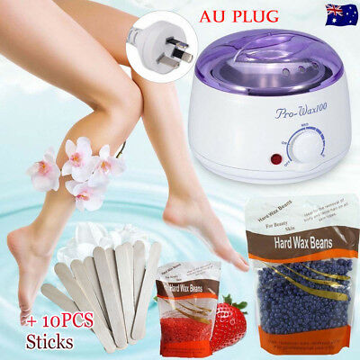 No Strip Depilatory Removal Body Bikini Hard Wax Bean Warmer Heater Machine Kit