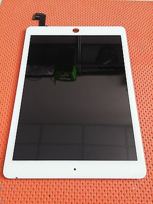 Touch Screen + Display Lcd Assemblato Per Apple Ipad 6 Air 2 Bianco A1566 A1567