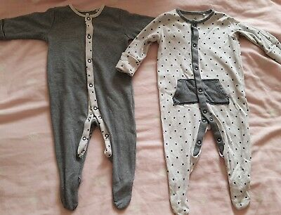 NEXT boys up to 3 months sleepsuits new without tags 💙