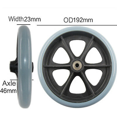1xpair 8inch front wheels for manual wheelchair, caster wheels color gray