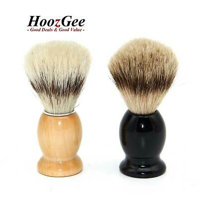 Handle Men's Beard Shaving Brushes Badger Hair/Boar Bristle Schima Superba Wood