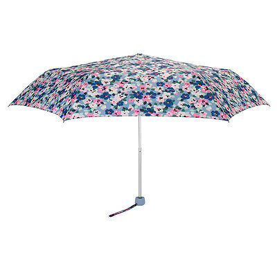 Authentic Cath Kidston travel Folding Umbrella Pink Blue Pansies Minilite Floral